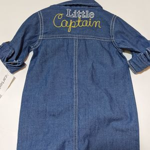 Carters little captain chambray jean rompe
